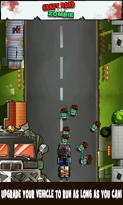 Crazy Road and Zombie - screenshot