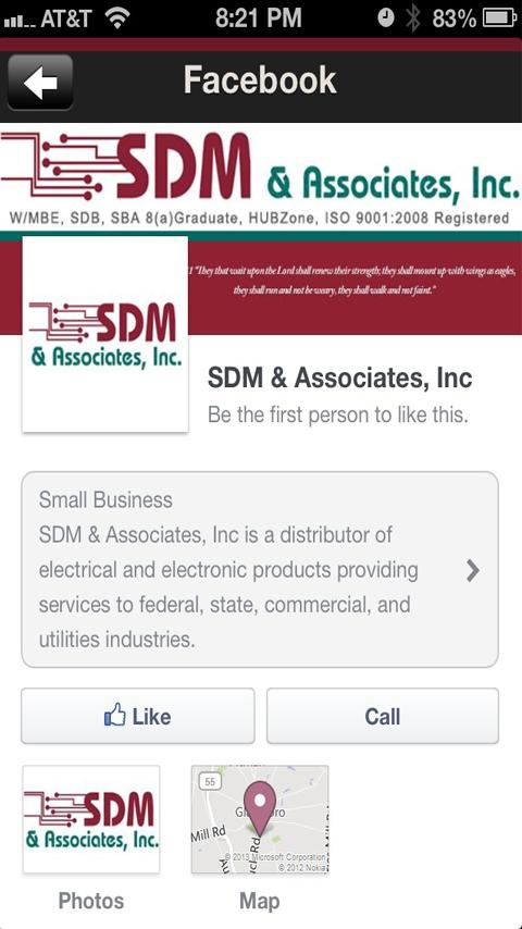 SDM & Associates, Inc- screenshot