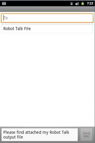 Robot Talk- screenshot