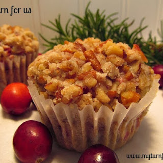 Cranberry Muffins with Pecan Streusel