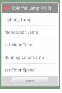 colorful slow glowing Lamp