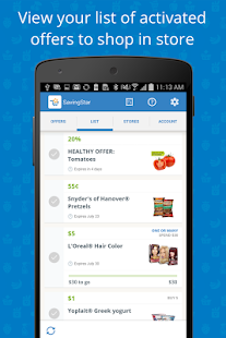 SavingStar - Grocery Savings- screenshot thumbnail