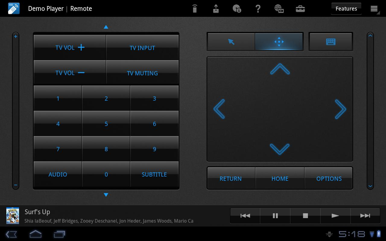 Media Remote for Tablet - screenshot