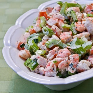 Tarragon Shrimp Salad with Celery, Green Onion, and Celery Seed.