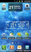 Screenshot of Blue Crystal Live Wallpaper