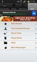 Screenshot of Chicken Recipes!