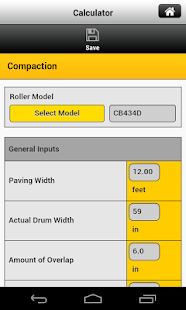 Caterpillar Paving Calculator - náhled