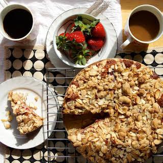 Strawberry Almond Crumb Coffee Cake.