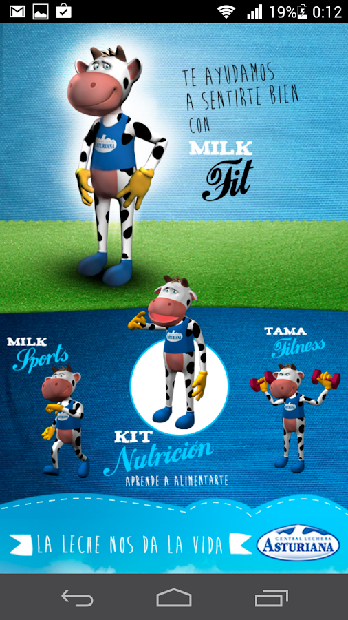 Milk Fit: captura de pantalla
