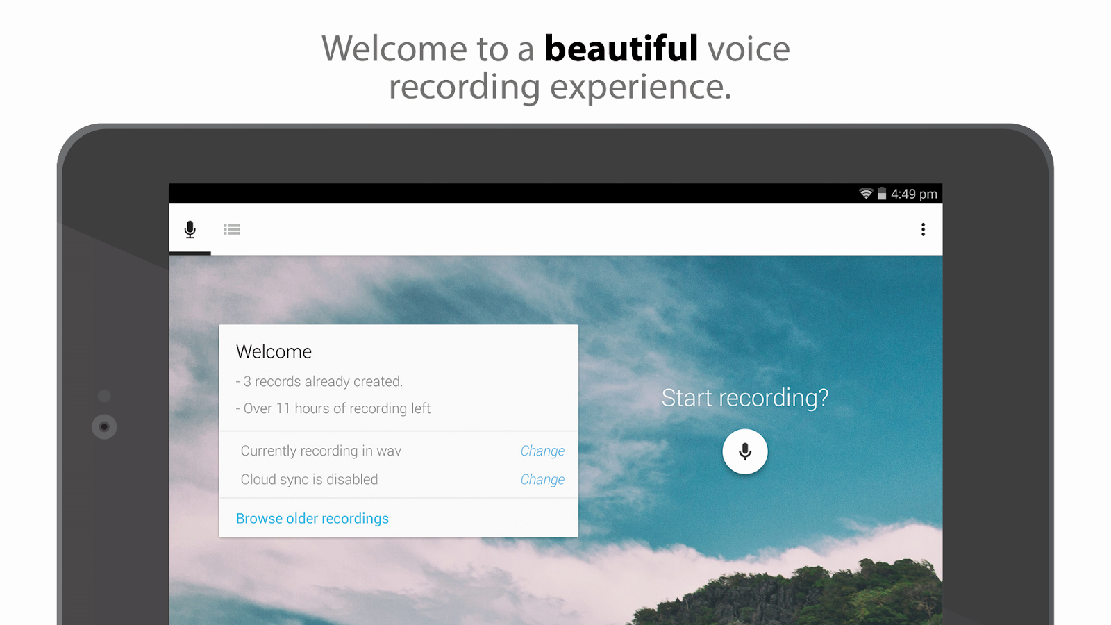 Skyro Voice Recorder - screenshot
