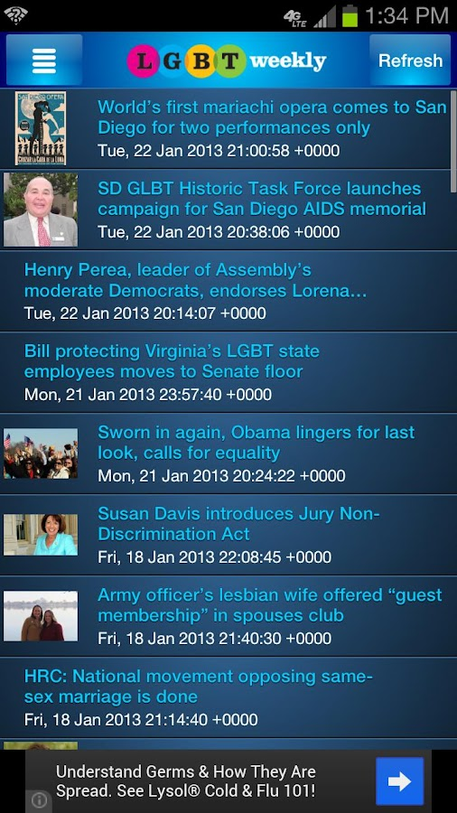 LGBT Weekly and The Pride Card - screenshot