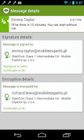 Screenshot of my Secure SMS – safe SMS