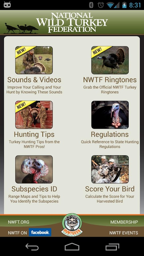 NWTF Turkey Hunting Toolbox - screenshot