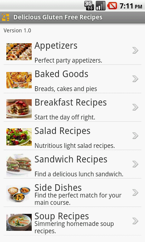 Delicious Gluten Free Recipes- screenshot