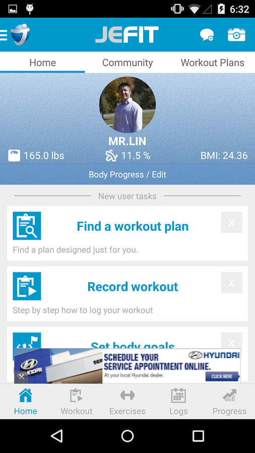 JEFIT Workout Tracker Gym Log - screenshot