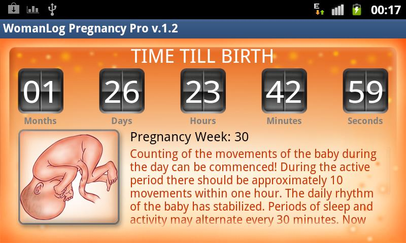 WomanLog Pregnancy Pro - screenshot