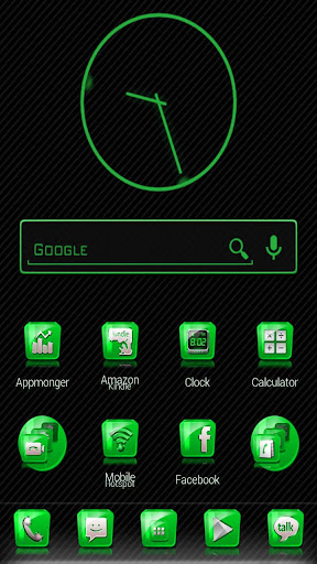 Slick Launcher Theme Green