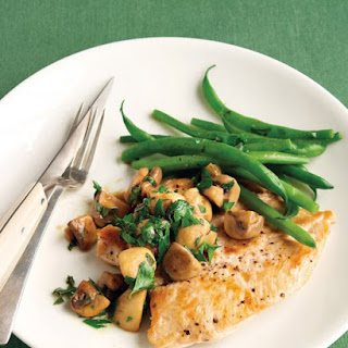 Sauteed Chicken with Mushrooms and Green Beans.