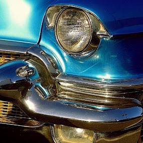 CAD I by Felix M - Transportation Automobiles ( vintage     55     blue     close up     cadillac     grey,  )