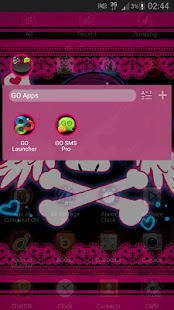 GO Launcher EX Theme Emo Pink - screenshot thumbnail