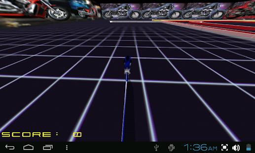 TRON LIGHTCYCLE ROCK RACE GAME - screenshot thumbnail