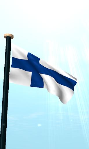 玩免費個人化APP|下載芬蘭旗3D動態桌布 app不用錢|硬是要APP