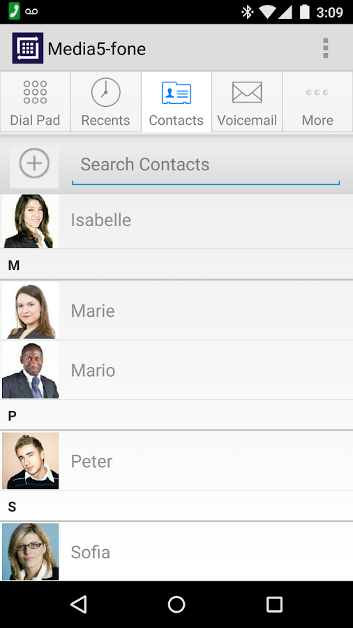 Media5-fone VoIP SIP Softphone- screenshot