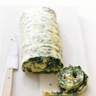 Family-Style Rolled Omelet with Spinach and Cheddar.
