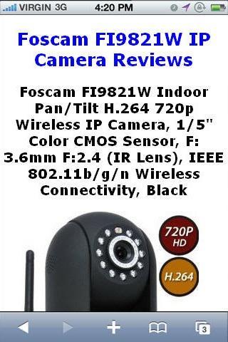 玩免費購物APP|下載FI9821W Wireless Camera Review app不用錢|硬是要APP