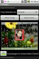 Screenshot of FrameMe